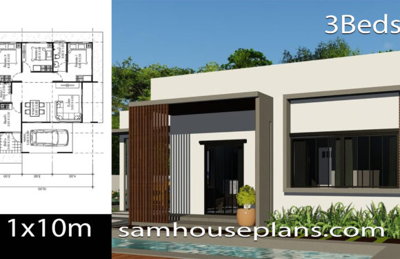 House Plans Idea 11×10 with 3 Bedrooms