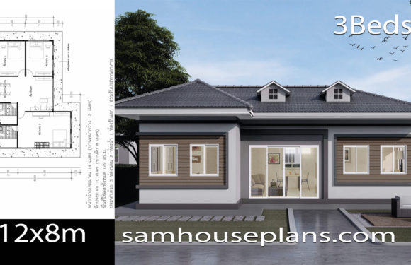House Plans Idea 12×8 with 3 Bedrooms